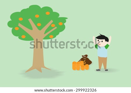 Money growing and investment concept. - stock vector