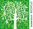 money growing on trees, dollars - stock photo