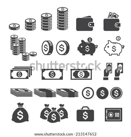 money icon - stock vector