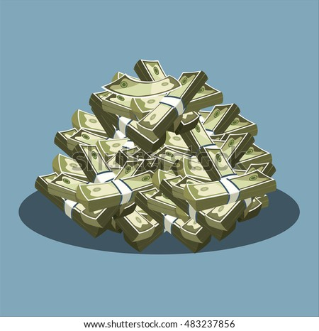 Money icon. A lot of money.