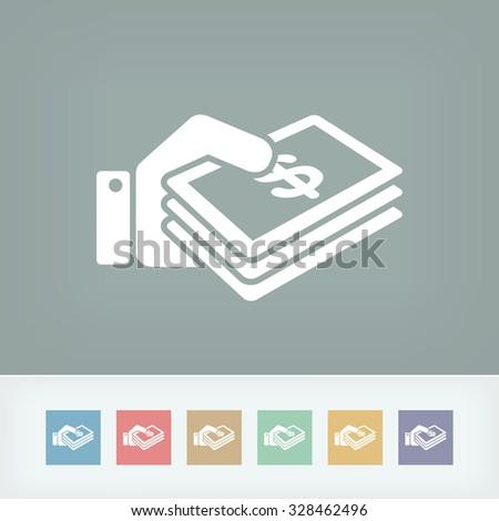 Money icon - Dollars - stock vector