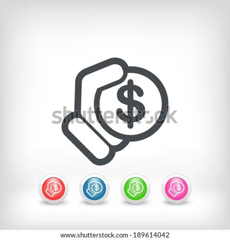 Money icon illustration - stock vector