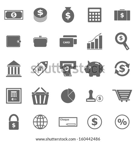 Money icons on white background, stock vector - stock vector