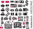 Money icons set. Finance Icons collection. Banking icons. - stock photo