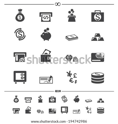 money icons.vector eps10 - stock vector