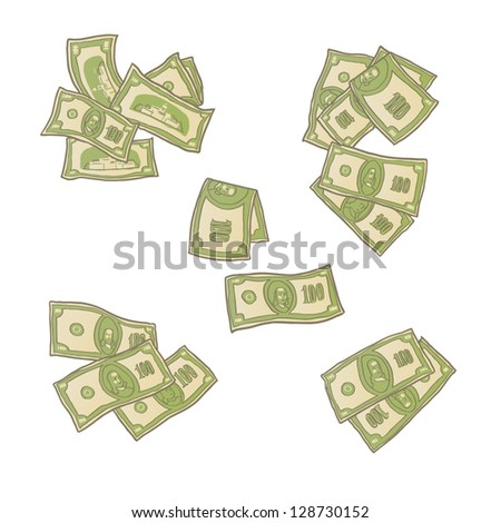 money isolated - stock vector
