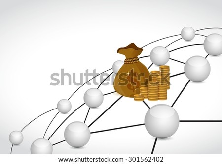 money link sphere network connection concept illustration design graphic background - stock vector