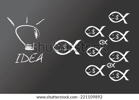 Money-Making Ideas - stock vector