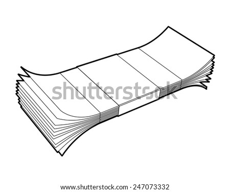 Money package isolated on white background. - stock vector