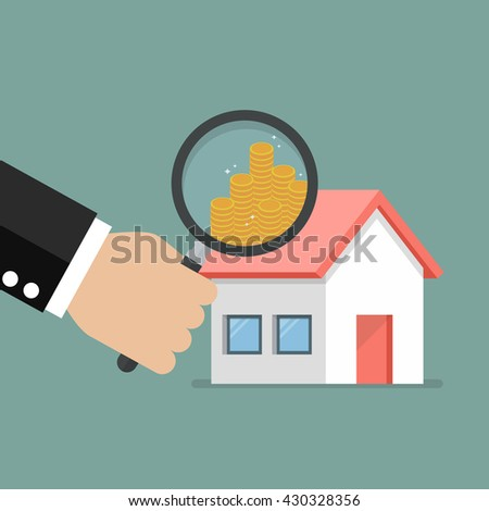 Money profit from real estate. Business concept - stock vector