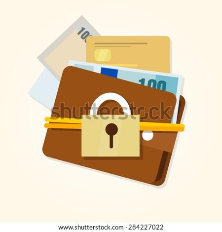 money protection security financial - stock vector