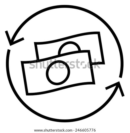 Money rotation icon - stock vector