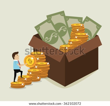 Money saving and investment  - stock vector