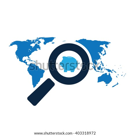 Money Saving, Tax Avoiding, Tax Evasion and Offshore Banking Concept Design - stock vector