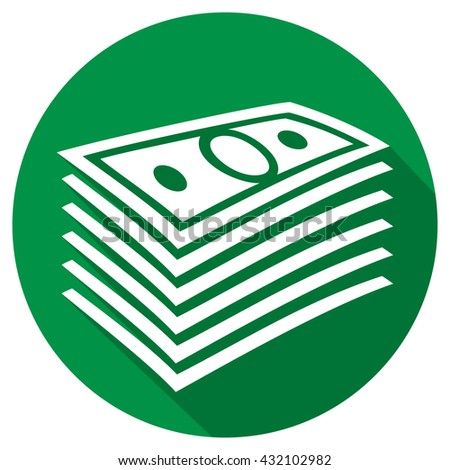 money stack flat icon - stock vector