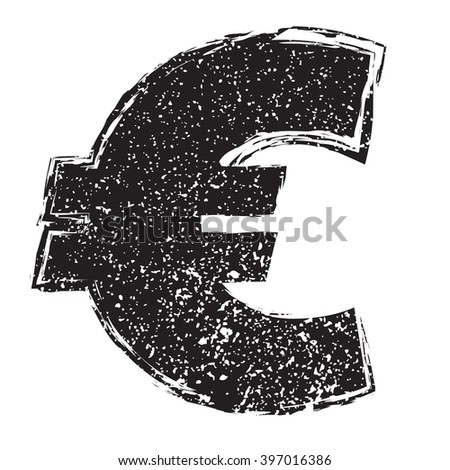 Money Symbol.Euro  - stock vector