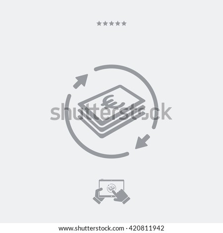 Money transfer icon - Euro - stock vector