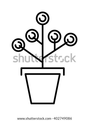 Money tree concept cartoon flat art business finance leaf symbol plant vector. Success financial money tree and money nature plant tree. Money tree savings concept currency banking sign. - stock vector