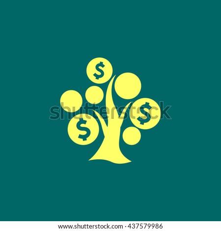 Money Tree icon, Money Tree icon eps10, Money Tree icon vector, Money Tree icon eps, Money Tree icon jpg, Money Tree icon picture, tree icon flat, tree icon app, tree icon web, tree icon art. - stock vector