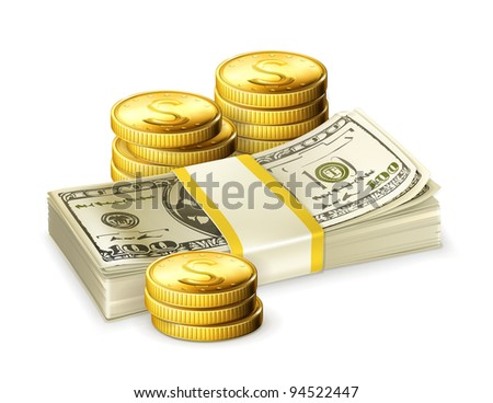 Money, vector - stock vector