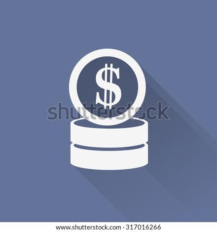 money vector icon - stock vector