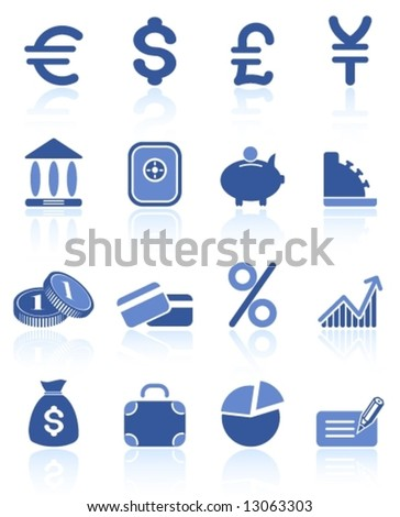 Money vector iconset - stock vector