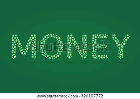 Money word and currency symbol inside. Vector illustration - stock vector