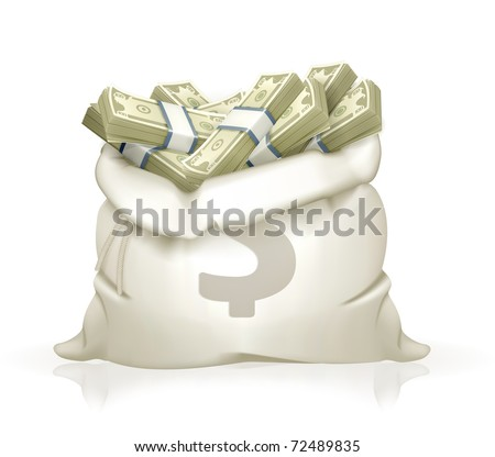 Moneybag, 10eps - stock vector