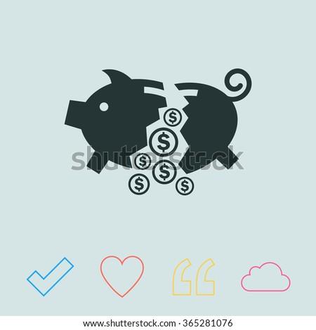 Moneybox vector icon. - stock vector