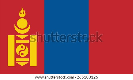 mongolia Flag for Independence Day and infographic Vector illustration. - stock vector