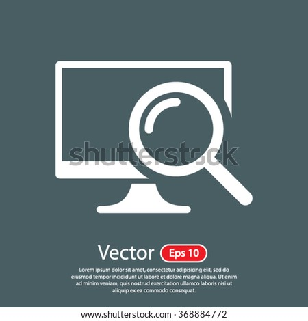 monitoring  icon. One of set web icons - stock vector