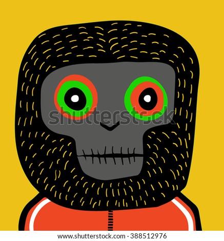 Monkey head - stock vector