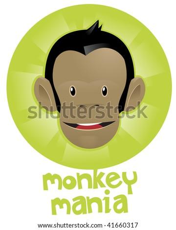 Monkey Mania - stock vector