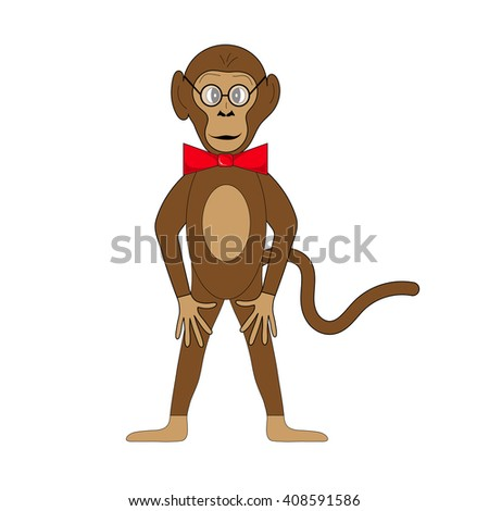 Monkey on white background in vector EPS 10