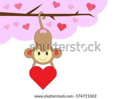 Valentines Day Monkey Stock Images, Royalty-Free Images & Vectors ...