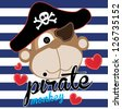 monkey / T-shirt graphics / cute cartoon characters / cute graphics for kids / Book illustrations / textile graphic - stock