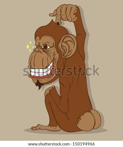 monkey vector - stock vector