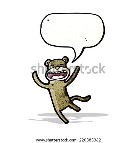monkey with speech bubble - stock vector