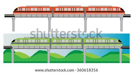 Mono rail - stock vector