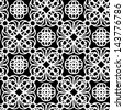 Monochrome abstract lacy seamless pattern - vector - stock vector
