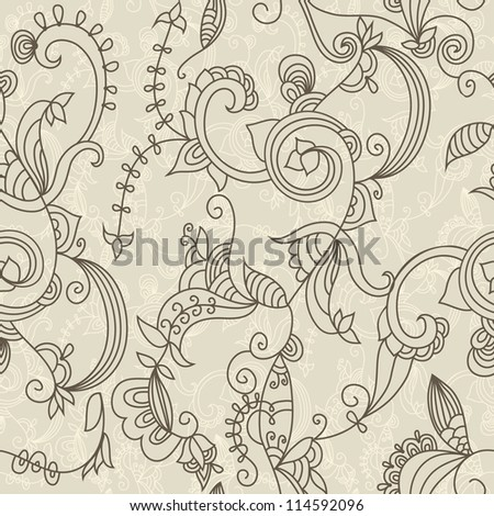 Monochrome abstract seamless pattern - stock vector