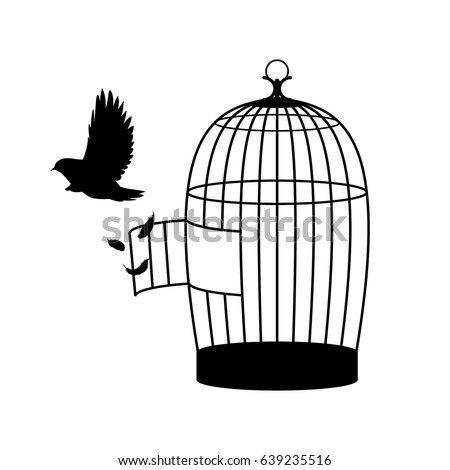 Open Birdcage Silhouette Open Cage Stock...