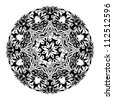Monochrome black and white lace ornament vector eps 8 - stock vector