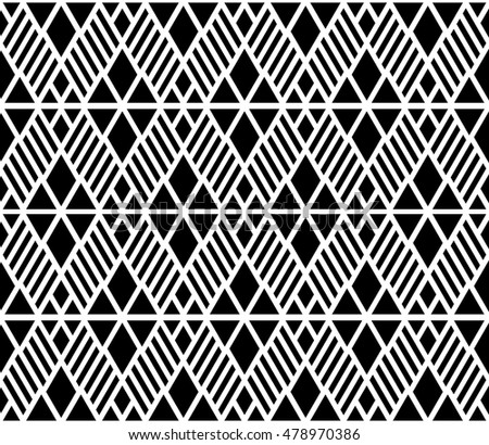 Monochrome connect of lattice argyle seamless pattern background.