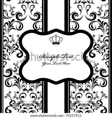 Monochrome Decoration Frame. Illustration vector. - stock vector