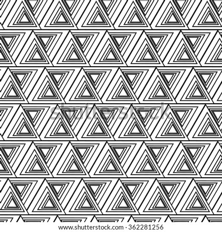 Monochrome elegant seamless pattern in black and white. Seamless geometric pattern. Mathematical abstract seamless pattern. - stock vector