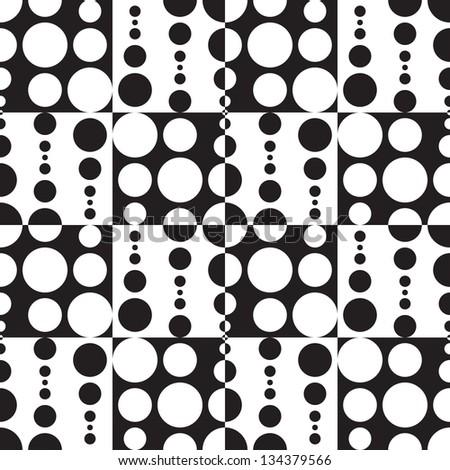 Monochrome Geometric Background - stock vector