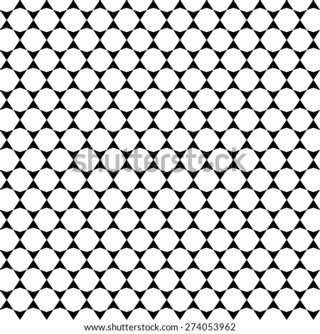 Monochrome geometric ornament. Vector seamless pattern. Endless texture can be used for printing onto fabric, paper or scrap booking, wallpaper, pattern fills, web page background, surface texture.  - stock vector