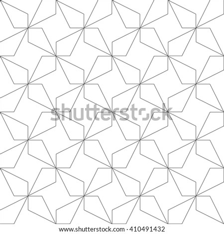 Monochrome geometric seamless pattern. Vector illustration - stock vector