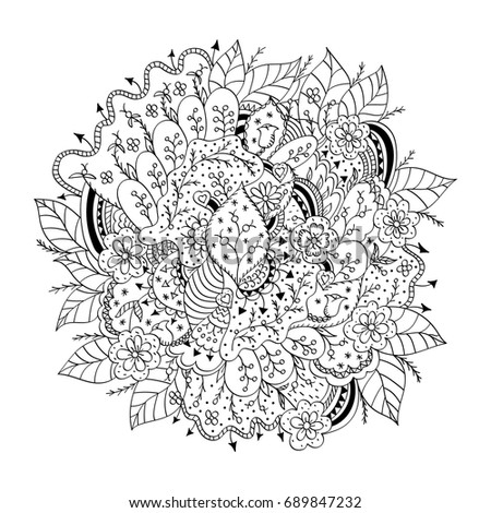 abstract trees coloring pages - photo#42